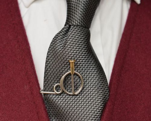 Penny Farthing Tie Clip