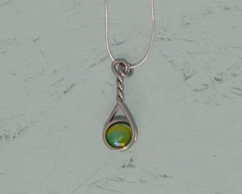Snake Eye Caged Marble Necklace