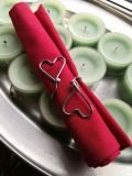 Heart Napkin Rings Candles